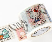 MT ex 2014 Sanrio Japanese Washi Tape / Sanrio Character Stamps 40mm wide for gift wrapping, party favor