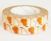 Shinzi Katoh Masking Tape - Pears for scrapbooking, birthday party favor, gift wrapping, craft projects