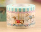 Mark's Japanese Washi Masking Tape / Merry-go-round 25mm wide for packaging, party deco, crafting