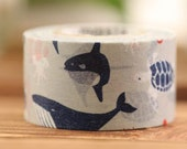 Mark's Japanese Washi Masking Tape / Sea Creature 20mm wide for packaging, party deco, crafting
