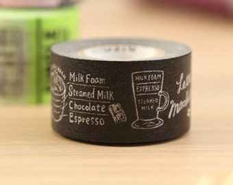 Mark's Japanese Washi Masking Tape / Espresso Guide 20mm wide for packaging, party deco, crafting