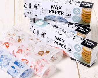 New - Moomin Wax Paper Sheets (218mm×250mm) for holiday gift wrapping, party birthday favor, food and goods wrapping