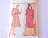 Pleat Front Blouse and Skirt Pattern, Victorian Inspired Richard Warren Sz 10 Butterick 4602