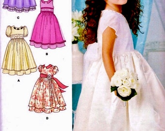 Flower Girl Dress Pattern, Princess Dress Pattern, Special Event Dress Pattern, Simplicity Sewing Pattern 1507