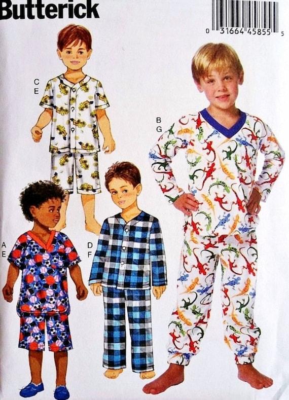 Boys' Pajama Pattern Little Boy PJ's Pattern Butterick by ...