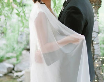 IVORY Silk Tulle Bridal Veil 1 yard x 70 Inches