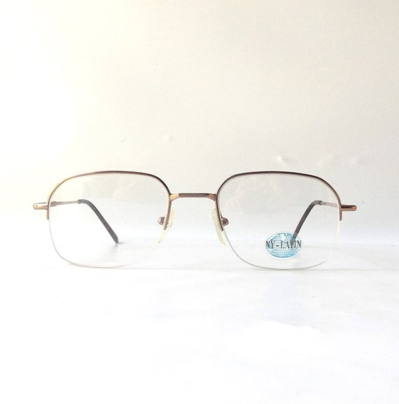 Vintage 1990 S Nos Eyewear Eyeglasses Gold By