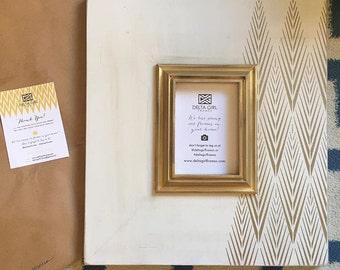 Asymmetrical Gold Tribecca Frame