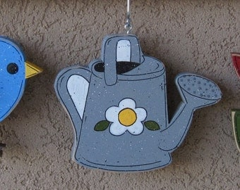 Monthly welcome Bird, Watering can, and Tulip Decorations (no sign included) for wall and home decor