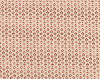 PETITE PRINTS 1 yd Moda quilt fabric French General Kaari Meng floral turkey red rouge brown cream tiny daisy 1 yard 13694-16