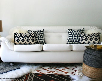 Italian Mod White Space Age Sofa - Huge & Comfortable - FREE SHIPPING! - Payment Plan Available!
