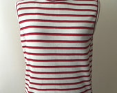 Vintage 1960s Striped Sleeveless Knit Top