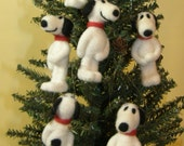 Snoopy Needle Felted Wool Ornaments
