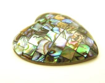 Abalone Heart, Paua Shell Heart, Heart Pendant