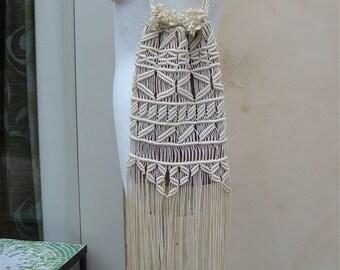 Vintage Native American Fringed Purse California Yurok Tribal Bag Boho Fringe Purse