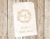 Custom Printed Candy Buffet Bag-Bridal Shower Favor bag- Bridal Shower Candy Bag 25 count