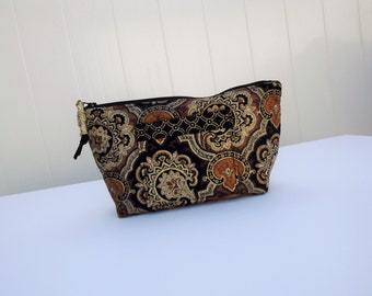 Quilted Make up Bag, Cosmetic Case, Gadget Case, Card Case