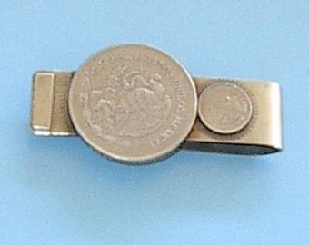 Money clip Mexican Coins signed 1980s