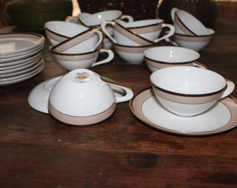 Vintage Sango Trousseau 14 Coffee Cups and 11 Saucers