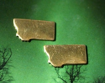 Tiny Montana State Blanks Cutout for Metalworking Stamping Texturing Blank- Variety of Metals - 6 pieces