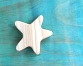 wooden bath toy, starfish bath toy, wooden starfish bath toy, waldorf star toy, wooden teething toy, wooden teether
