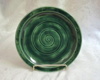 Deep Green Dinner or Serving Plate