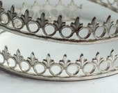 Sterling silver gallery wire, fleur de lis, circles, fancy wire , stone setting bezel wire