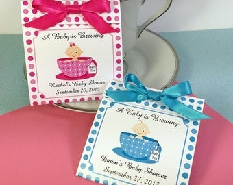 Baby in a Teacup Tea Favor- Baby Shower, Baby Sprinkle