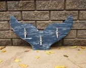 Navy and White Whale Tail Towel Rack. Whale Coat Hooks. Boat Cleat Hook Rack. Beach Towel Hooks. Made To Order
