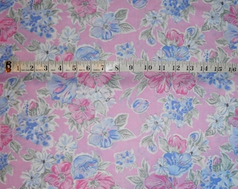 floral on pink fabric