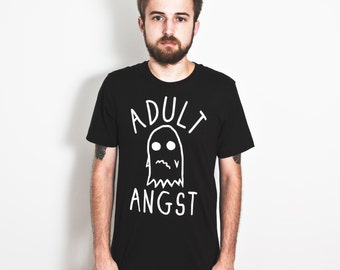 Adult Angst T-Shirt. Ghost Tee.