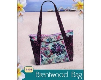 BRENTWOOD Bag PATTERN ~ Fun to Sew ~ Easy to Make With Shoulder Strap ~ #106