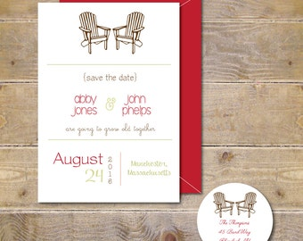 Adirondack Chairs, Save The Dates, Wedding Save The Dates, Adirondack Chairs, Adirondack Chairs  Save The Dates
