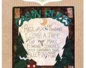 Cabin Rules Packaged Mini Quilt Pattern from Quilt Doodle Designs