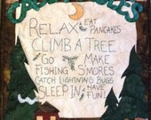 Cabin Rules Mini Quilt PDF Pattern from Quilt Doodle Designs