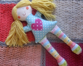 Rag Doll/Natural cloth rag doll/soft toy/toddler gift