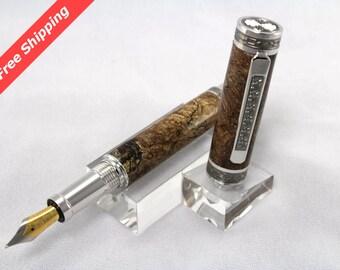 Big Leaf Maple Burl Emperor Fountain Pen - Free Shipping
