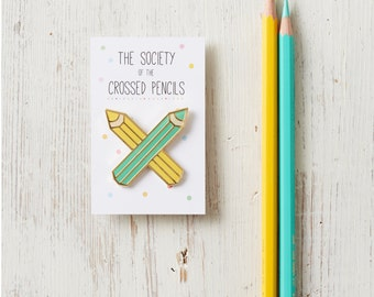 Enamel Pin - The Society of The Crossed Pencils