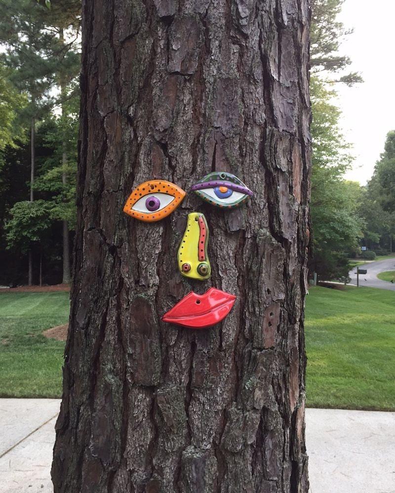 Unique Garden Art: Picasso Tree Face Original Unique Garden Art Yard In