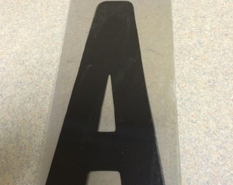 10 inch Black letter A marquee letter signage.