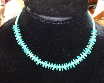 Vintage Strand of Turquoise Nuggets and Heishi Beads