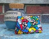 Mario and Luigi / Super Mario Brothers / Nintendo grab-n-go credit card wallet