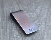 Personalized Copper Money Clip Rustic Distressed Masculine