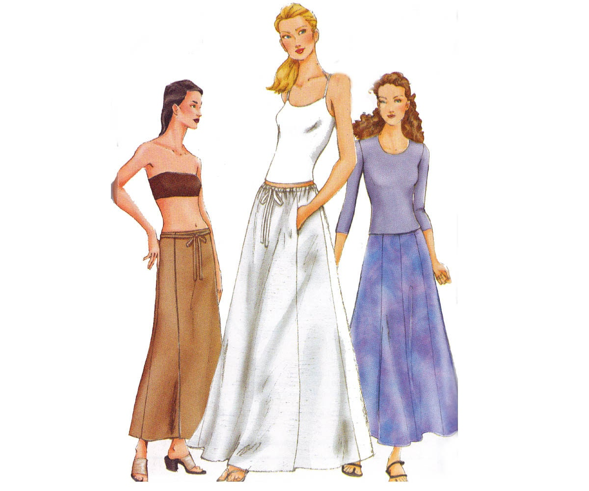 maxi skirts pattern vogue 7280 sewing pattern or