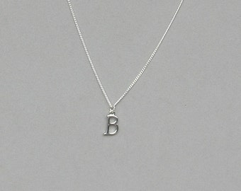Silver Plated Initial B Necklace