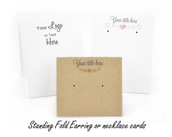Tent Earring Display Cards - Folded Jewelry Cards - Free Standing Cards - Custom Jewelry Cards