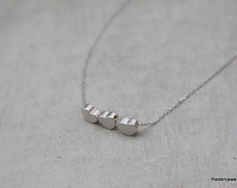 Three Hearts Silver Necklace