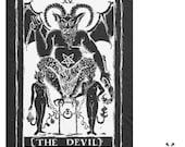 The Devil Tarot Card fleece blanket