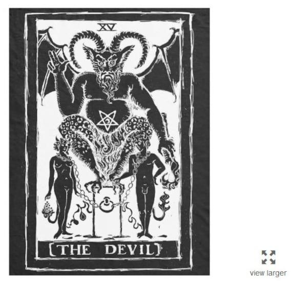 The Devil Tarot fleece blanket