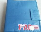 vintage Pen-Tab Pro School or college nylon folder organizer Soccer Ball great Blue 1980s geek